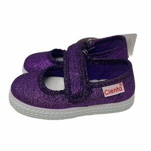 CIENTA**Purple Sparkle Canvas Shoes**EU 19 IS 3.5